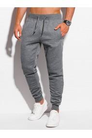 Pantaloni de trening barbati P928 - gri-inchis