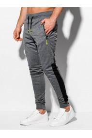 Pantaloni de trening barbati P966 - gri-inchis