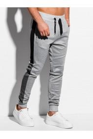 Pantaloni de trening barbati P963 - gri-deschis