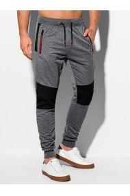 Pantaloni de trening barbati P969 - gri-inchis