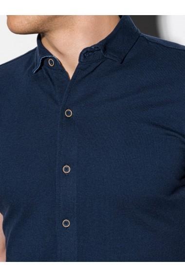 Camasa premium cu maneca scurta barbati K541  bleumarin