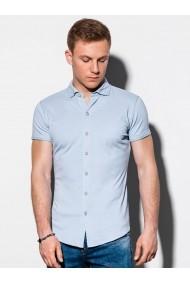 Camasa premium cu maneca scurta barbati K541  albastru
