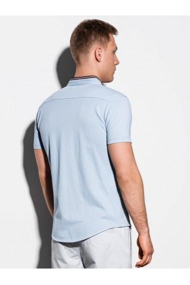 Camasa premium cu maneca scurta barbati K543  albastru