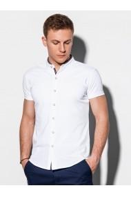Camasa premium cu maneca scurta barbati K543  alb