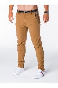 Pantaloni pentru barbati camel slim fit casual elastici  p156