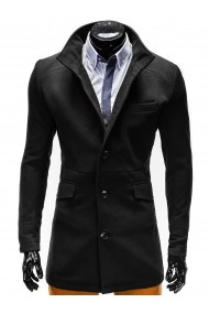 Jacheta pentru barbati croi slim fit inchidere 3 nasturi negru  VICTOR