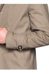 Trench pentru barbati bej stil palton elegant nasturi casual slim fit  C269