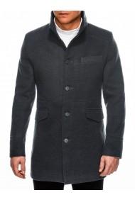 Jacheta pentru barbati croi slim fit inchidere 3 nasturi gri inchis  VICTOR