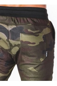 Pantaloni pentru barbati de trening camuflaj verde slim fit sport street model nou  P653