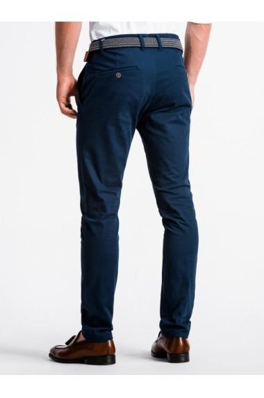 Pantaloni premium casual barbati  P830 albastru