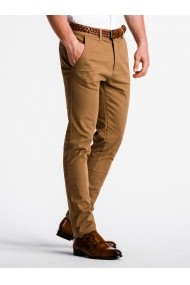 Pantaloni premium casual barbati  P830 camel