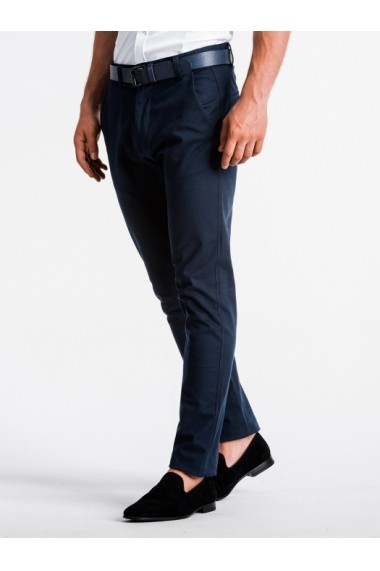 Pantaloni premium casual barbati  P830 bleumarin