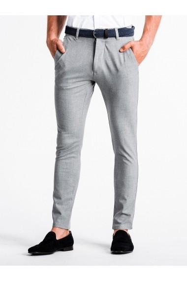 Pantaloni premium casual barbati  P832 gri deschis