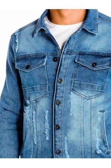 Geaca de blugi pentru barbati  C404 albastru