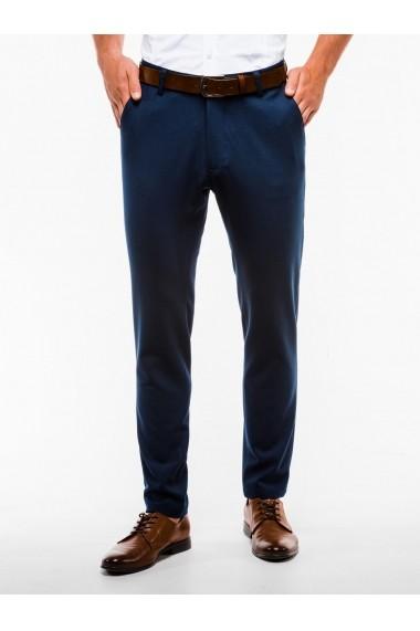 Pantaloni premium casual barbati  P832 bleumarin
