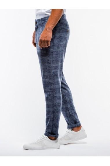 Pantaloni premium barbati  P848 bleumarin
