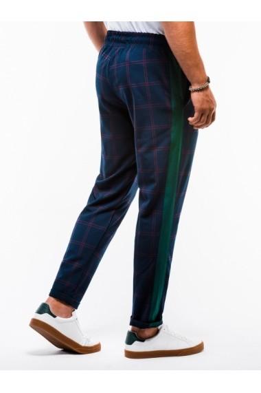 Pantaloni premium barbati  P851 bleumarin