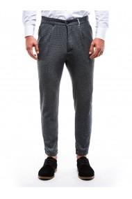 Pantaloni eleganti barbati P869 gri inchis