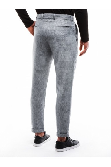 Pantaloni eleganti barbati P869 gri deschis