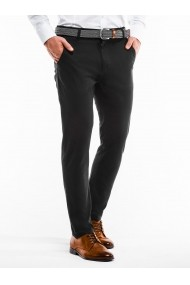 Pantaloni casual barbati P853 negru