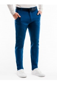 Pantaloni casual barbati P853 albastru