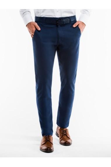 Pantaloni casual barbati P853 bleumarin