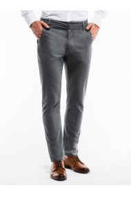 Pantaloni casual barbati P853 gri