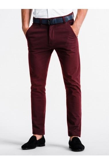 Pantaloni premium casual barbati  P830 bordo
