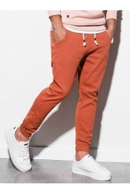 Pantaloni joggers barbati P885  portocaliu