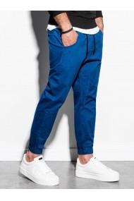 Pantaloni joggers barbati P885  albastru