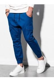 Pantaloni joggers barbati P886  albastru