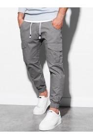 Pantaloni joggers barbati P886  gri