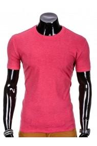 Tricou pentru barbati corai simplu slim fit mulat pe corp bumbac  S620