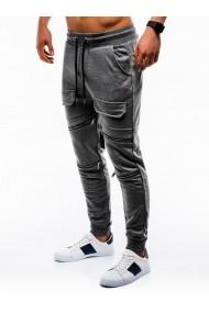Pantaloni barbati de trening gri slim fit sport street model nou  P821