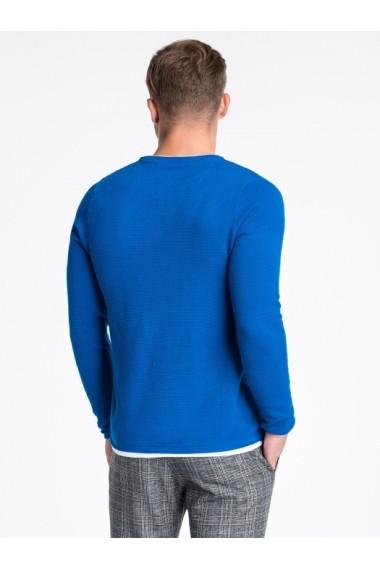 Bluza premium barbati E121  albastru