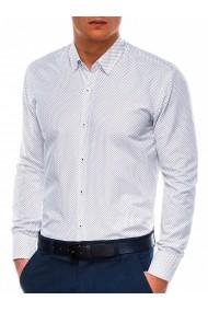 Camasa eleganta barbati K479  alb rosu