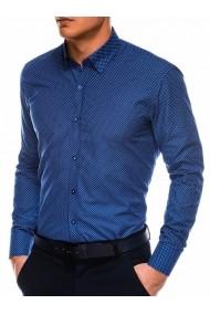 Camasa eleganta barbati K479  bleumarin alb