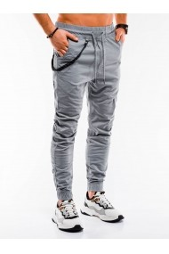 Pantaloni casual barbati P908  gri deschis