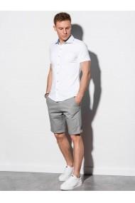 Camasa premium cu maneca scurta barbati K541  alb