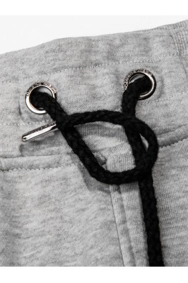 Pantaloni barbati de trening gri slim fit sport street model nou - P733