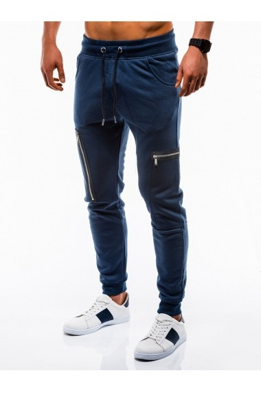 Pantaloni barbati de trening albastru slim fit sport street model nou - P733