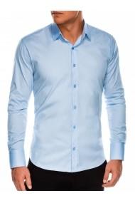 Camasa slim fit barbati K504 - albastru-deschis