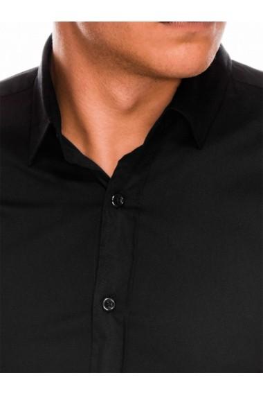 Camasa slim fit barbati K504 - negru