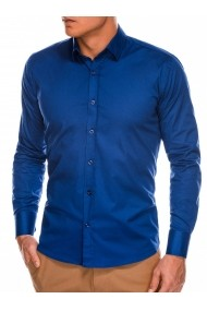 Camasa slim fit barbati K504 - bleumarin