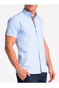 Camasa cu maneca scurta barbati K489 - albastru-deschis