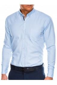 Camasa regular fit barbati K490 - albastru-deschis