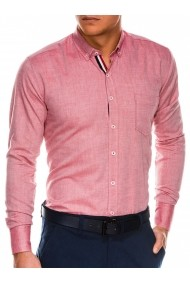 Camasa regular fit barbati K490 - rosu