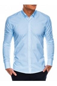 Camasa eleganta barbati K471 - alb-albastru