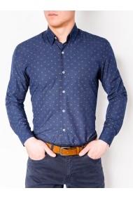 Camasa eleganta barbati K463 - albastru-inchis
