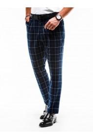 Pantaloni eleganti barbati P884 - bleumarin